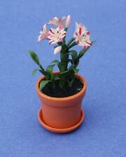 Miniature Dollhouse Magic Pink Lilies Flower Plant 1:12 Scale New