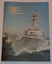 USS COLE 1996 NAVY COMMISSIONING BOOK! 88 PAGES! PICTURES! BONUS:INVITATION! USN