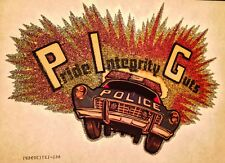 VTG 70s PolIce Officer Cop dating punk cute pig rock funny Lewd t-shirt Iron-On