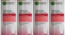 4 x GARNIER SKIN NATURALS 15mL MIRACLE SKIN EYE CREAM ANTI-AGEING 100% Brand New