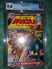 Tomb of Dracula 44 CGC 9.8 white pages,Blade,Dr Strange appearance