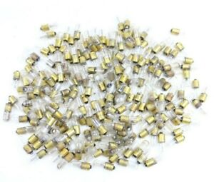 Huge Lot of GE Bayonet Brass Base Neon Bulbs NE51, B2A, 55, 57 Indicator Lamps