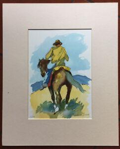 Claudio Da Firenze (Dominici) litografia Buttero 35x25 firmata numerata