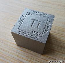 """XXL-Titan cubo """"Cube"""" elemento (5 Oz avdp Titan titanbarren onza onzas lingotes)"""