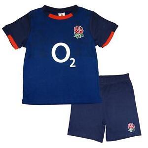 England RFU Rugby Alternate Baby/Toddler T-shirt & Shorts Set   Blue   2020/21