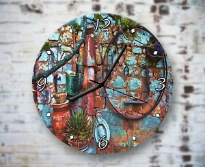 Vintage Items - Wall Clock Home Office Bedroom Living Room Kitchen Decor