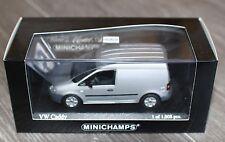 VW VOLKSWAGEN CADDY TOLE REFLEX SILVER 2003 MINICHAMPS 400053101 1/43 SILBER