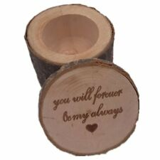 032df35b86 Vintage Ring Box Wooden Wedding Engagement Ring Box Rustic Finger Ring Hold  T