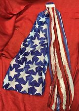 "USA American Flag Star & Stripe Patriotic Red White Blue Scarf 63x13"" Olympics"
