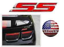 New GM Chevrolet Camaro Red SS Emblem Side Fender Trunk Badge Decal Logo Bumper