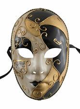 Maske Venetian Verkleidung Gold- Und Schwarz Mystery Karneval Venedig 75 V61