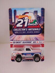 """2021 Hot Wheels Nationals """" '83 Chevy Silverado 4x4 """" in BP"""
