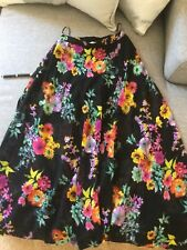 Ladies Shorts with Flowing Floral Maxi Skirt Overlay Size 8