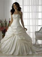 Neu Weiß/Ivory Elegant Braut Brautkleider Hochzeitskleid Gr:32 34 36 48 40 42 44