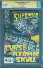 Superman Man of Steel 5 CGC SS 9.8 Louise Simonson Curse of Atomic Skull 11/91