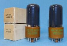 2 Sylvania JAN 6V6GTY Vacuum Tubes NOS/NIB Amplitrex Tested Matched Pair Foil