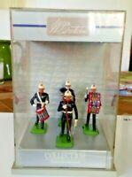 Vintage Britains Royal Marine toy soldiers 1/32 in display case - MIB - Mint