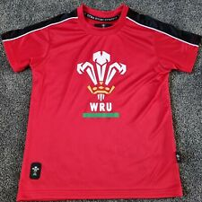 Wales Rugby T Shirt, Large WRU Badge - 7-8 Years/ Used