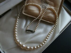 vintage jewellery beautiful real pearl  necklace