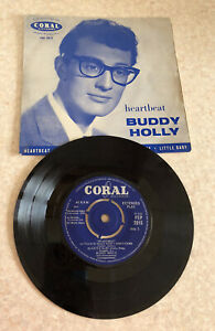 "Buddy Holly Heartbeat Vinyl 7"" EP Coral FEP 2015"