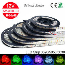 5m RGB LED Strip Light SMD 5050 5630 3528 LED String Ribbon Decoration Lamp 12V
