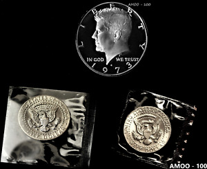 1973 P D S Proof, and 2 Uncirculated, B.U. P & D Kennedy Half Dollars