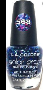 L.A. Colors Nail Polish 568 Glitter Blue Purple Pink