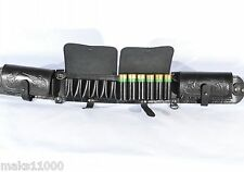 Black  leather Shotgun shell belt  bandolier cartridge ammo holder 24 pcs 12 ga