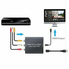 Mini Composito AV a HDMI Convertitore 1080P Audio RCA Video CVBS TV Adattatore