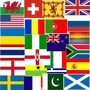Giant 5X3FT National Country Flags Rugby Football Cricket Sports Decorations UK