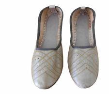 Men Shoes Indian Handmade Leather Mojari Loafers & Slip Ons Flip-Flops Us 7