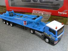 1/87 Herpa MAN TGS L Felbermayr (A) Flachbett-SZ m.SA-Bock f. Liebherr LR 1600/2