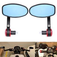 "Motorcycle Rearview Side Mirrors for 7/8"" Handle Bar ATV Kawasaki Suzuki Honda"