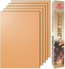 Copper Grill Mat Set of 5- 100% Non-stick Bbq Grill & Baking Mats - Fda-Approved