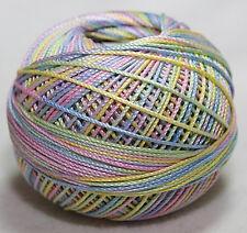 Lizbeth Cordonnet 100% Egyptian Cotton Thread Size 3 - 186 Pastel Petals