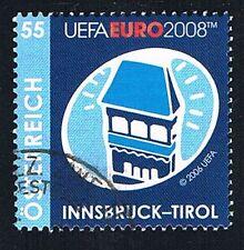 AUSTRIA 1 FRANCOBOLLO CALCIO UEFA CAMPIONATI EUROPA 2008 usato