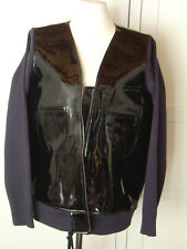 Marni at H&M Jacke Lederjacke Lackleder Schwarz EUR size 42 US 12 UK 16