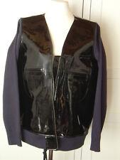 Marni at h&m Giacca Giacca di Pelle Pelle Verniciata Nero EUR size 42 US 12 UK 16