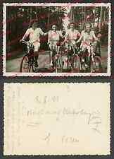 orig. Foto Frauen Fahrrad Scheinwerfer Verdunklung Damen Mode Posen Poznan 1941