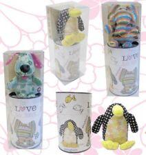 Fabric Animals Bang On The Door Elephant Tin Gift Set