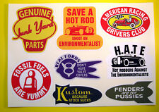 Hot Rod Rétro Vintage Autocollant Decal Set Ford CHEVY