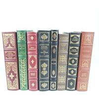 Franklin Library Vintage Classic Book Lot 8 Decameron Chekhov Ulysses Dickens