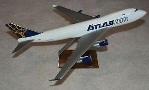 1/144 Pacific Miniatures Atlas Air Cargo Boeing 747-400F Desktop Airplane Model