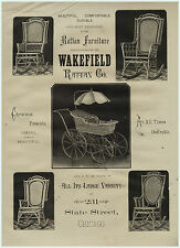 SUPER Rare 1879 Lg Advertising - Rattan Heywood Wakefield Wicker Furniture