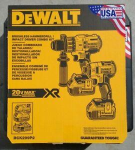 DEWALT DCK299P2 20V MAX XR Li-Ion Hammer Drill & Impact Driver Combo Kit NEW !!!