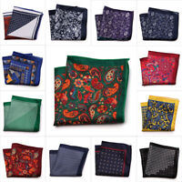 Men's Vintage Printed Handkerchief Formal Suit Pocket Square Hanky Wedding Party