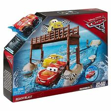Disney/Pixar Cars 3 Splash Racers Beach Blast Playset Lighting Mc Queen Set