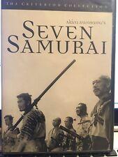 Seven Samurai Criterion Collection Dvd - Very Good