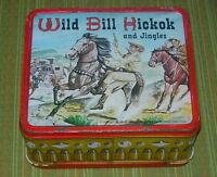 WILD BILL HICKOK AND JINGLES  METAL LUNCH BOX  1955  ALADDIN  NO THERMOS