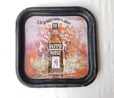 Original Old Antique Vintage Bagpiper Whisky Brand Ad Sign Tin Tray, Collectible